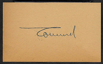 Erwin Rommel Autograph Reprint On Genuine Original Period 1940s 3X5 Card