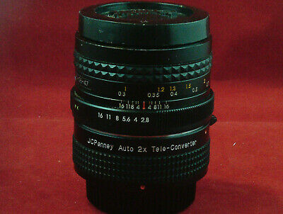 JCPenney Auto 2x Tele-Converter Lens with Focal MC Auto 1:2.8 Attached