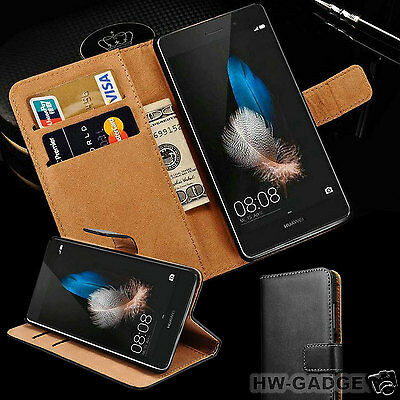 Genuine Real Leather Slim Flip Wallet Case Cover For Huawei P30 Pro