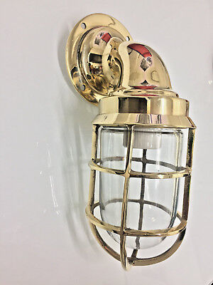 Nautical Marine Solid Brass Swan American Ship Light One Pcs