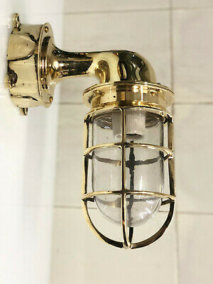 Antique Solid Brass New Nautical Marine Swan Ship Light One Pcs