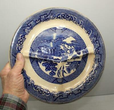 Vintage Blue WILLOW Divided Plate W.R. MIDWINTER BURSLEM Made in England Ceramic