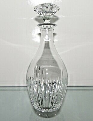 "MAGNIFICENT ! BACCARAT, FRANCE, MASSENA Crystal  Decanter 11.5"" Exceptional"