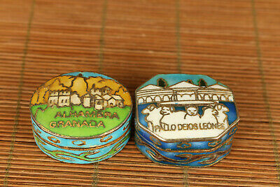 chinese collectable cloisonne mini 2 box