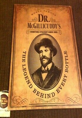 RARE Dr McGillicuddy's SHOOTING STRAIGHT Bar Pub Tavern Wisconsin Wood Wall Sign