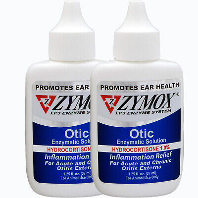 ZYMOX Pet King Brand Otic Pet Ear Treatment with Hydrocortisone-2-pack
