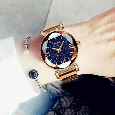 💗Luxury Starry Sky Watch Magnet Strap Fashion Watches Magnetic Stainless Steel