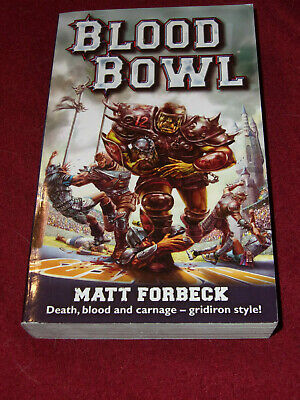 Blood Bowl by Matt Forbeck (2005, Paperback) Black Library miniatures game
