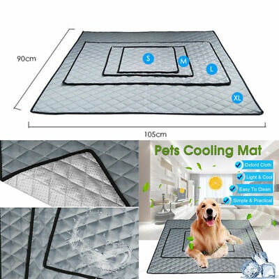 Pet Mat Non-Toxic Cool Pad Bed Summer Heat Relief Dogs Cat Puppy Cushion S-XL US