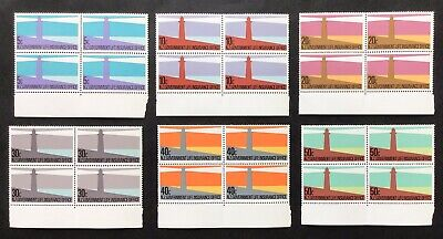 NEW ZEALAND  1981  LIFE INSURANCE SET 6 x Blks 4 - MNH  SG L64-69
