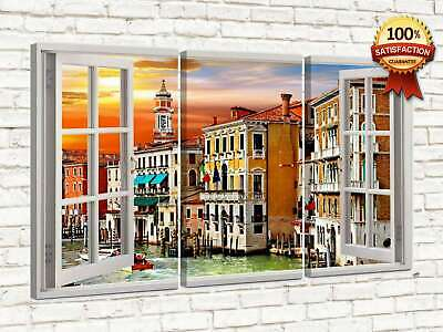 Quadro moderno su tela  cm 50 x 90 (3 Pz.)     Beautiful night London