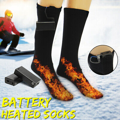 1 Pair L Battery Heated Socks Feet Foot Warmer Electric Heater Warm For Cold