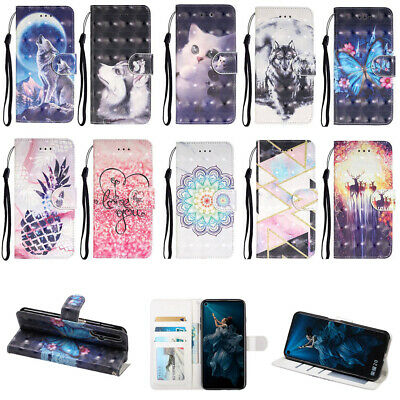 Premium Magnetic Holder Card S lot PU Leather Wallet Flip Case Cover For Phone