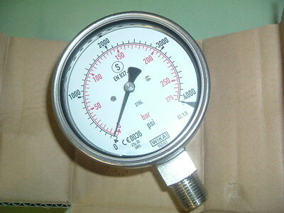 Wika............ 232 30 100....... Gauge/Gage 0- 4000 1/2 Npt New Boxed Packing