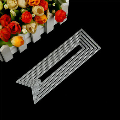 5Pcs Banner Design Metal Cutting Die For DIY Scrapbooking Album Paper Cards  S*