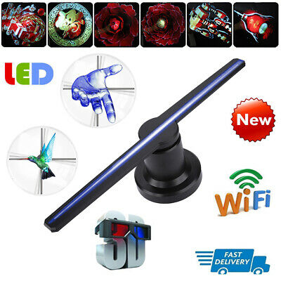 LED 3D WiFi Holographic Projector Hologram Player Adavertising Display Fan Lamp
