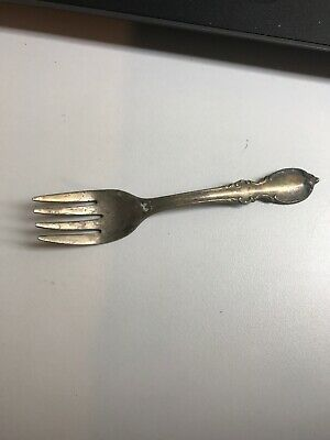 VINTAGE B.W. ROGERS REFLECTION SILVER PLATED MINIATURE FORK (b11)