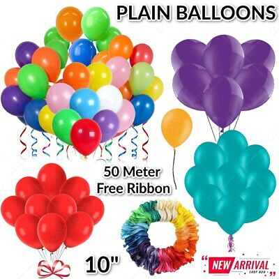 PLAIN BALONS BALLONS HELIUM & AIR BALLOONS HIGH Quality Party Birthday WEDDING A