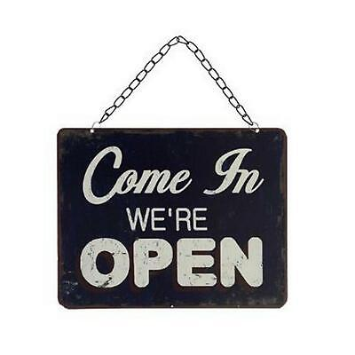 Come in Were Open, Sorry We Are Closed Reversible Shop Sign
