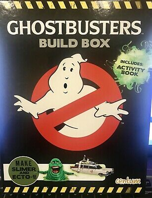 NEW GHOSTBUSTERS Build Box includes Activity Box w/ classic photos, paper models