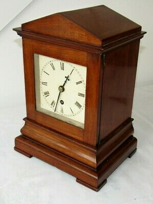 Top Quality English Mahogany Fusee Library Clock
