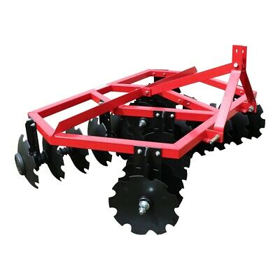 Category 1 3 Point Notched Disc Harrow Plow For Kubota New Holland Tractors | 6'
