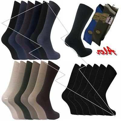 Mens100% Cotton Top Quality Socks Regular Size 6-11 Pack of12 Casual & Smart Lot