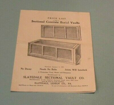 ADVERTISING VTG BURIAL Vault Coffin poster funeral cemetery Dundee