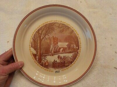 Vintage 1983 Corelle Christmas Series Limited Edition Dinner Plate Winter Scene