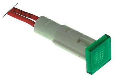Signal Lamp Green Ø 10mm 230V Cable 220mm