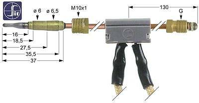 Sit Thermocouple with Breaker Length 600mm M10x1 Ø 6mm D2 Ø 6,5mm M9x1