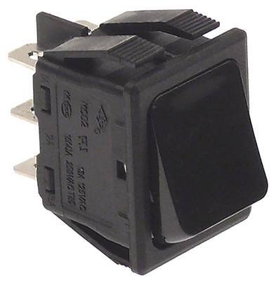 Lincat Rocker Push Buttons for ECO76, ECO9, ECO8 Black 250V 2CO 2-pin 16A IP40