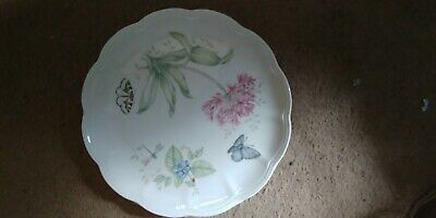 Lenox Butterfly Meadow DINNER Plates Set Of 2 EASTERN TAIL BLUE PATTERN 10 3/4