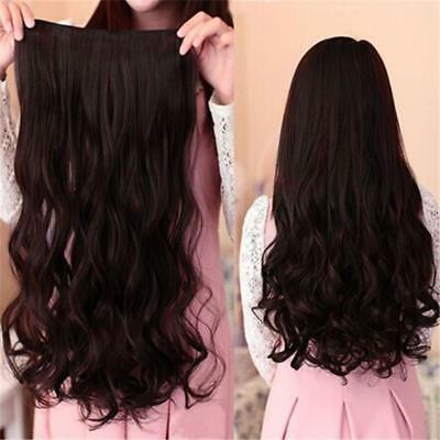 Women Secret Halo Hair Extensions Flip in Curly Wavy Hair Extension Synthetic CF