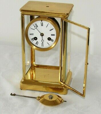 Very Nice Small Size Gilt French Four Glass Clock