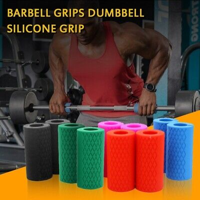 Muscle Growth Bar Barbell Grips Dumbbell Silicone Grip Pull Up Weightlifting