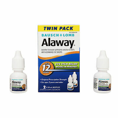 Bausch+Lomb Alaway Eye Itch Relief Drops 0.34 fl oz each, twin pack