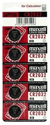 5 x Maxell 2032 Lithium CELL battery 3V CR2032 DL2032 5 Pcs