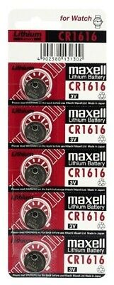 5 x Maxell 1616 Lithium CELL battery 3V CR1616 DL1616 5 Pcs