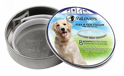 Flea and Tick collar for dogs - 8 Month  Protection, Fit All Sizes, Waterproof