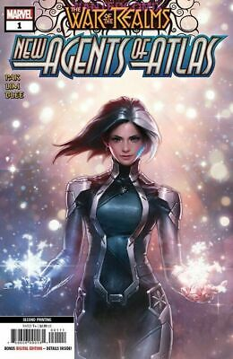 WAR OF REALMS NEW AGENTS OF ATLAS #1 2nd PRINT LUNA SNOW VARIANT COVER 6/15 LEE