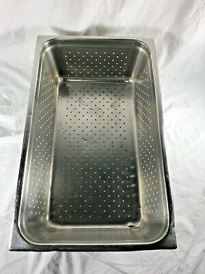 """Perforated Steam Table Pan Stainless Steel Full Size 21"""" x 6"""" Deep"""