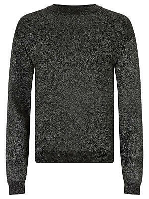 John Lewis Girls' Sparkle Lurex Knitted Jumper / Black 13 Years Brand New