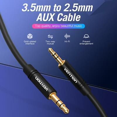 Vention 3.5mm Male to 2.5mm Male Aux Audio Cable for Car Smartphone Speaker