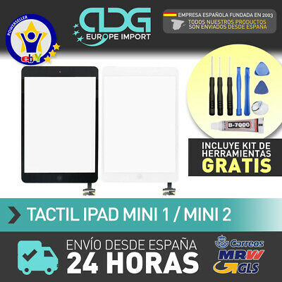 Pantalla Tactil Tablet iPad Mini 1 2 + Boton Home con chip iC negra blanca. 24h