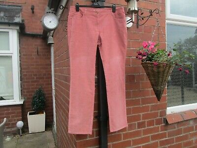 Boden Pink Straight Leg Needle Cord Trousers Size 18 Long