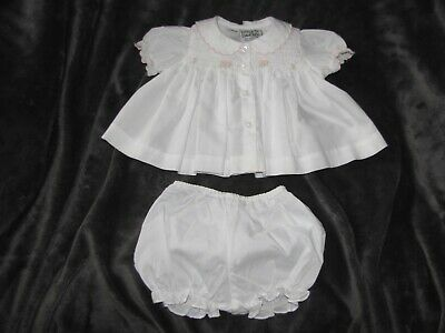 88df31f2a Preemie Little Diamonds Smocked Pink White Floral Dress New Reborn Doll