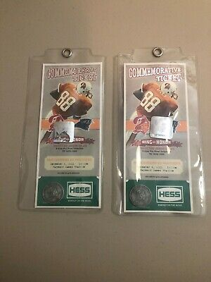 Two (2) Tampa Bay Buccaneers Jimmie Giles Ring Of Honor  Commemorative Tickets