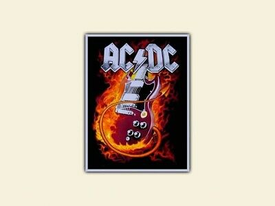 Ac Dc Patch Pre order. Woven  Limited 100 pieces.silver border.finish in4 weeks