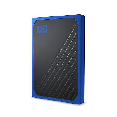 WD 500GB My Passport Go Cobalt SSD Portable External Storage -WDBY9Y5000ABT-WESN